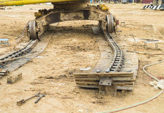 Track of excavator Royalty Free Stock Photo
