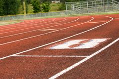 Track and Field. For running races and sprints Stock Images