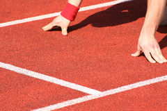 Track and field athletics Stock Image