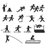 Track and field athletics icon set, Vector. Eps10 Royalty Free Stock Photo