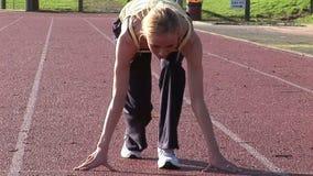 Track Field Athletics stock footage