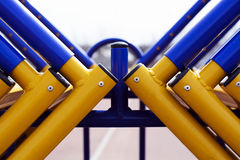 The track and field barriers, obstacles. abstract representation of the struggle of colors and shapes Stock Images
