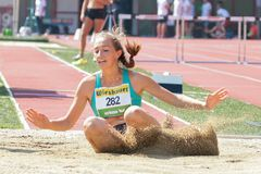Track and Field Championship 2015 Royalty Free Stock Images