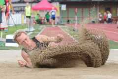 Track and Field Championship 2015 Stock Images