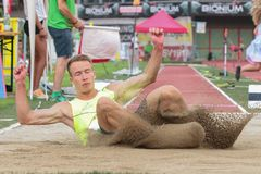 Track and Field Championship 2015 Royalty Free Stock Image