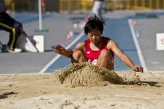 Track and field competition Stock Photography