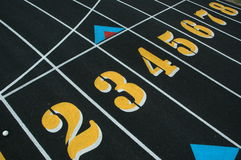 Track and Field Lane Numbers Stock Photography
