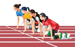 Track and field ready to run stock illustration