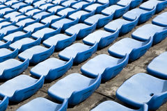 Track field rubber seats Stock Photography