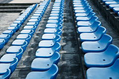 Track field rubber seats Royalty Free Stock Photos