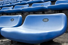 Track field rubber seats Stock Images