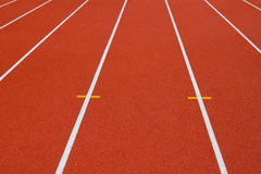 Track and Field Running Lanes Stock Photography