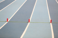Track and Field Running Lines Royalty Free Stock Photography