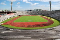 Track, field and seat. Of a stadium in the city stock images