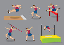 Track and Field Sports Vector Illustration Stock Photography