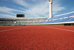 Track and field stadium Stock Images