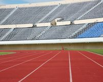 Track and field stadium Royalty Free Stock Images
