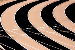 Track Field - Three Lanes Royalty Free Stock Photo