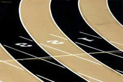 Track Field - Three Lanes Royalty Free Stock Photos