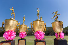 Track and Field trophies Royalty Free Stock Photo