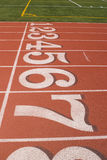 Track Finish. The finish line of a running track Royalty Free Stock Image