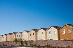 Track houses. Row of track houses in the suburbs of Las vegas Royalty Free Stock Image