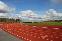 Track with hurdle Royalty Free Stock Photo