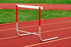 Track hurdle Stock Images