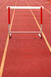 Track hurdle Stock Image