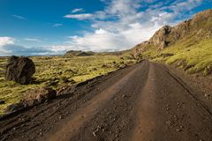 Track through Iceland Royalty Free Stock Photos