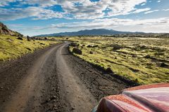 Track through Iceland Royalty Free Stock Photo
