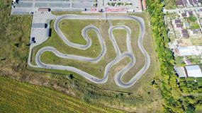 Track for karting. Aerial view stock images