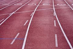 Track lane Royalty Free Stock Photos