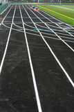 Track Lanes. A picture of a brand new running track Royalty Free Stock Images