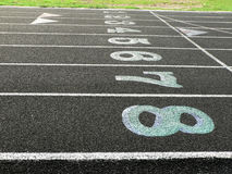 Track lanes 2 Stock Photography