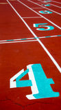 Track Lanes. With an Emphasis on Number Four royalty free stock photos