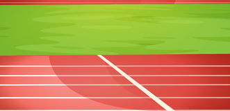 Track lanes. Illustration of a running track Stock Photos