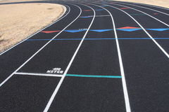 Track lanes. Running lanes of a track Stock Images