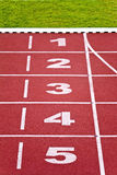 Track lanes, numbers Royalty Free Stock Image