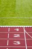 Track lanes, numbers Stock Photo