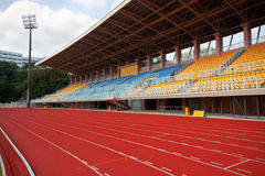 Track Lanes and Stadium Royalty Free Stock Images