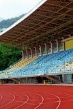 Track Lanes and Stadium Royalty Free Stock Image