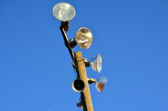Track Lights Blue Sky  Royalty Free Stock Images