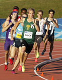 Track male athletes running canada Royalty Free Stock Photo