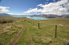 The track from Mount John to Lake Tepako Royalty Free Stock Images
