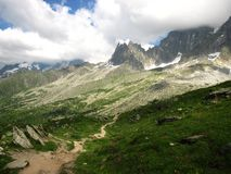 Track near Chamonix Stock Photography