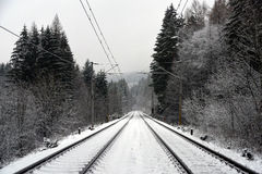 Track near Horni Lidec station Royalty Free Stock Photos