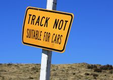 Track Not Suitable For Cars. Royalty Free Stock Images