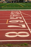 Track Numbers. Track and field oval with numbers in lanes Royalty Free Stock Image