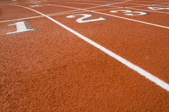 Track numbers on  Red Field Royalty Free Stock Photos